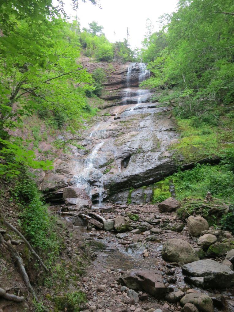 Cape Breton trail waterfall