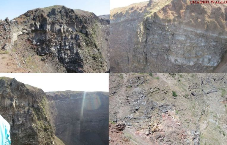 Crater walls