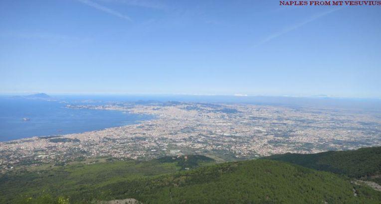 Naples from Mt Vesuvius
