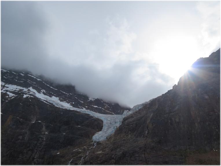 Menacing clouds over Angel Glacier Alberta