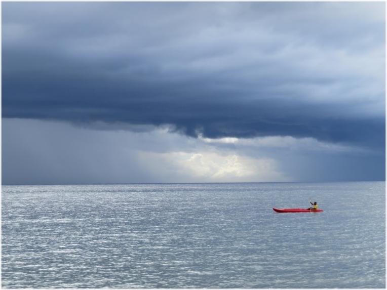 Rushing to the shore before a storm Santiago De Cuba