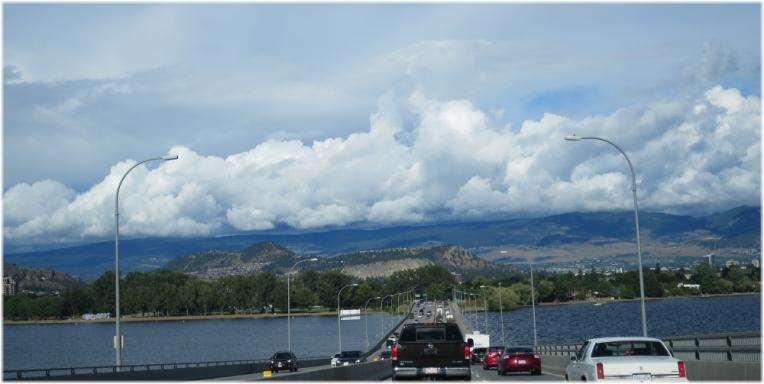 Storm approaching Okanagan Valley British Columbia
