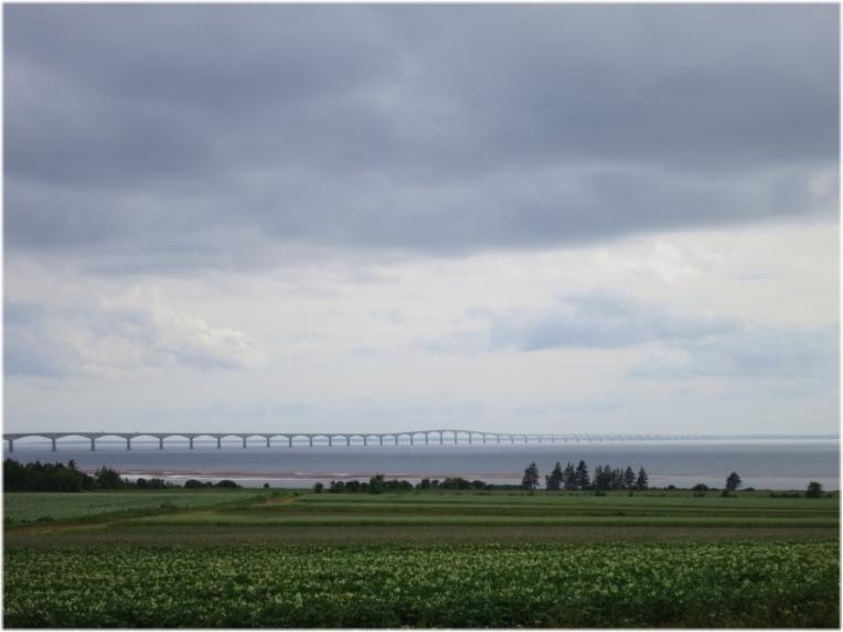 Undecided weather - Confederation Bridge from Prince Edward Island