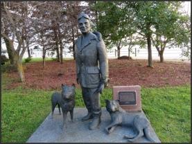 "William Henry ""Bill"" Orazietti monument - musher and a legend in Sault Ste Marie"