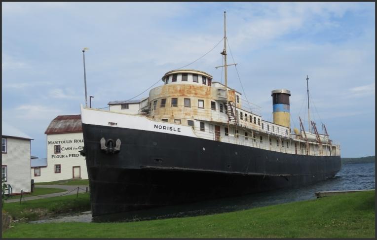 SS Norisle allen into a state of disrepair Assiginack Museum Complex