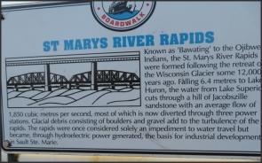 St Marys River Rapids plaque