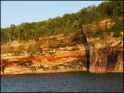 More painted cliffs