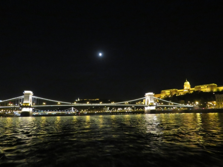 Budapest - Szechenyi Chain Bridge with Buda Castle on the right