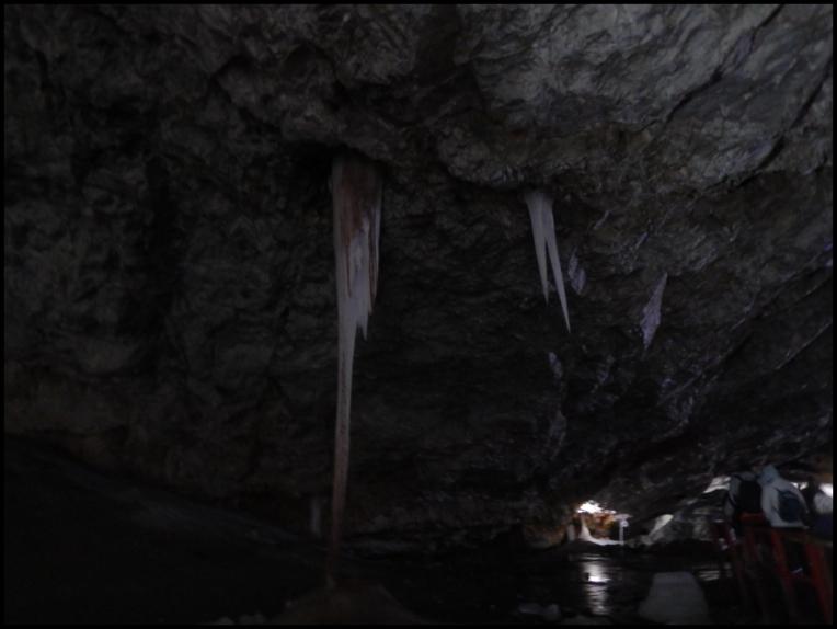 Scarisoara Ice Cave - stalactites and stalagmites
