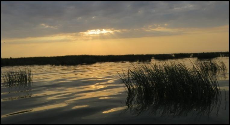 Sulina sunset on Musura Bay