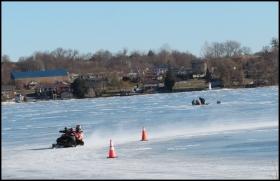 Winter sports on Chemong Lake