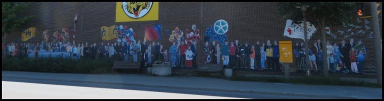 Pembroke mural - Marching Toward The Millennium