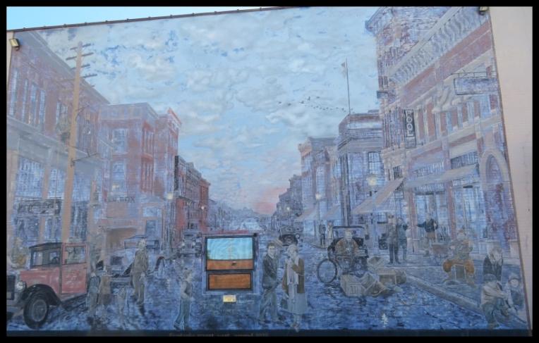 Pembroke mural - STREET LIGHTS around 1925