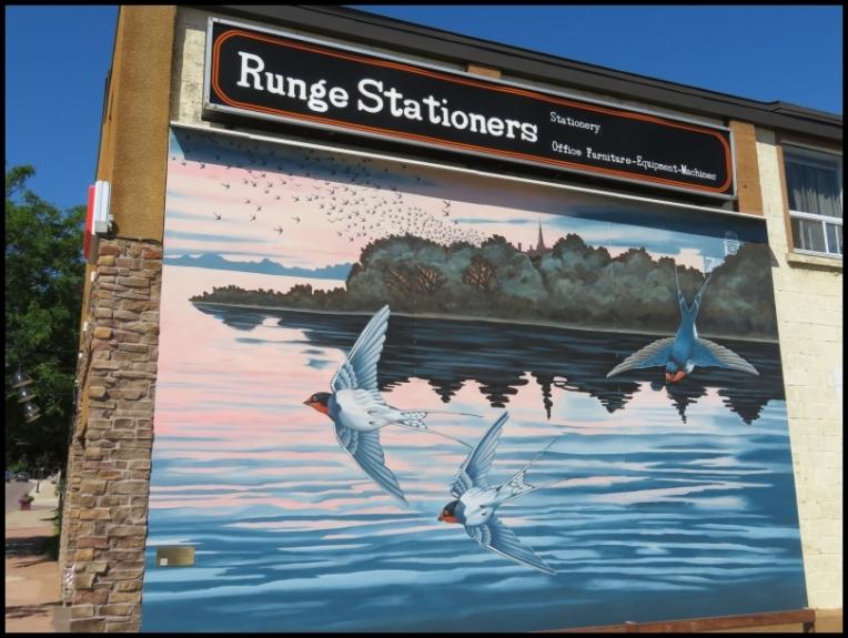 Pembroke mural - SWALLOWS - CANADA'S CAPISTRANO