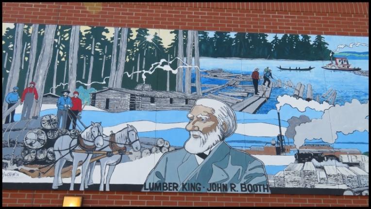 Pembroke mural - THE LUMBERING INDUSTRY