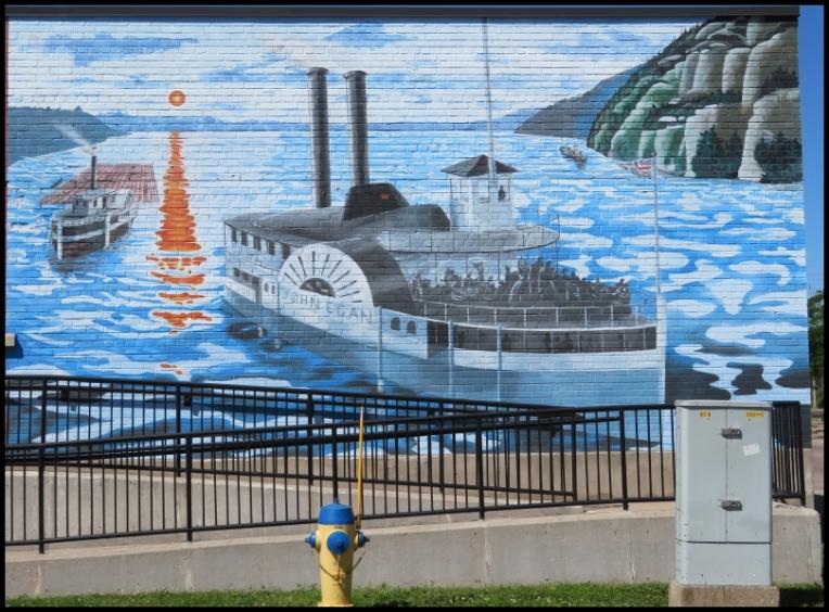 Pembroke mural - THE STEAMBOAT