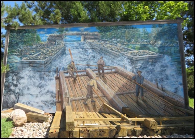 Pembroke mural - THE TIMBER RAFT