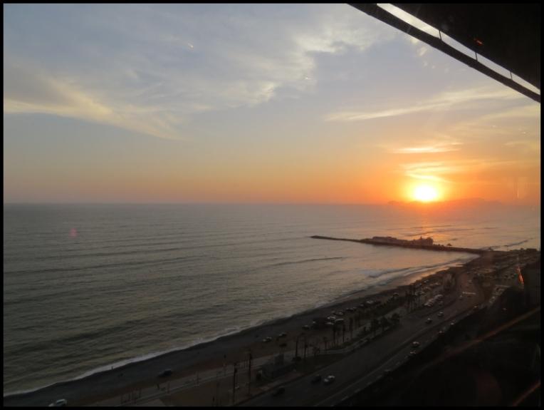 Lima - Miraflores - Pacific Ocean sunset