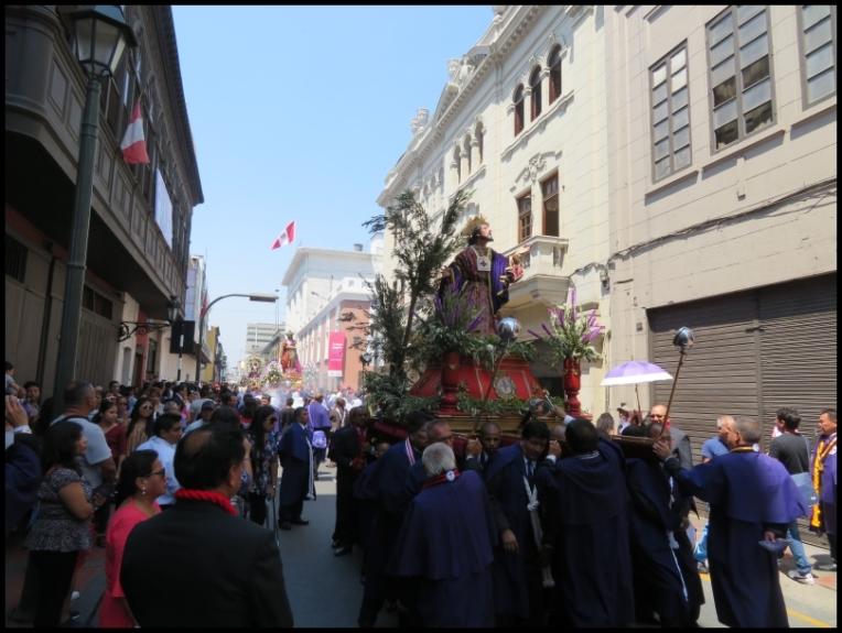 Procession in Historical Centre, Lima
