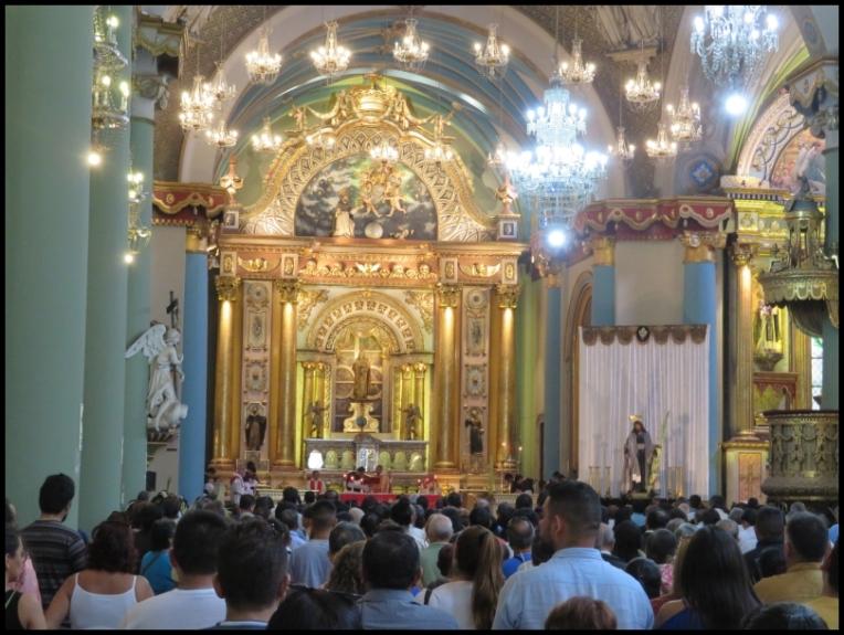 Lima - Santo Domingo church mass