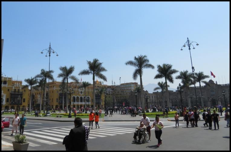 Lima - The Plaza Mayor or Plaza de Armas