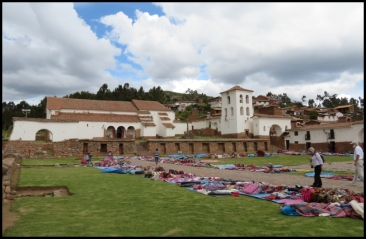 Chinchero - Church of Our Lady of Montserrat and plaza