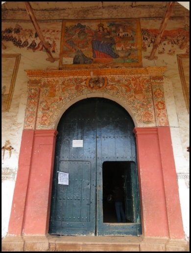 Chinchero - Church of Our Lady of Montserrat - door