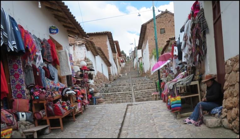 Chinchero - stairs to the church and ruins