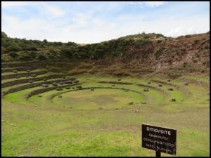 Sacred Valley - Moray - smaller terraced circular depression