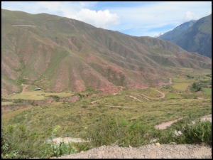 Sacred Valley - winding, rugged road through the mountains