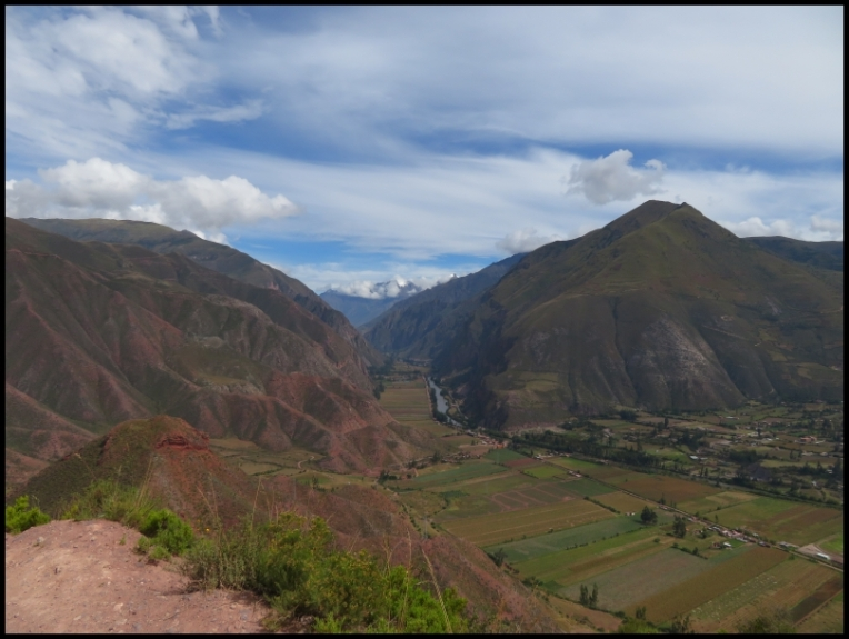 Sacred Valley with snowed peak - Apu Veronica - in the distance