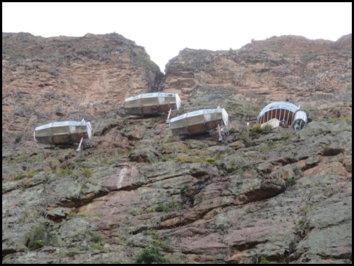 Skylodge - the suspended hotel, for the more adventurous tourists