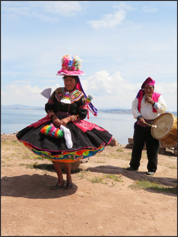 Taquile Island - native music and dance