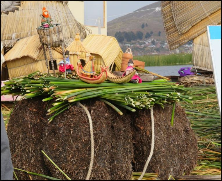 Uros Island - Totora reeds island structure