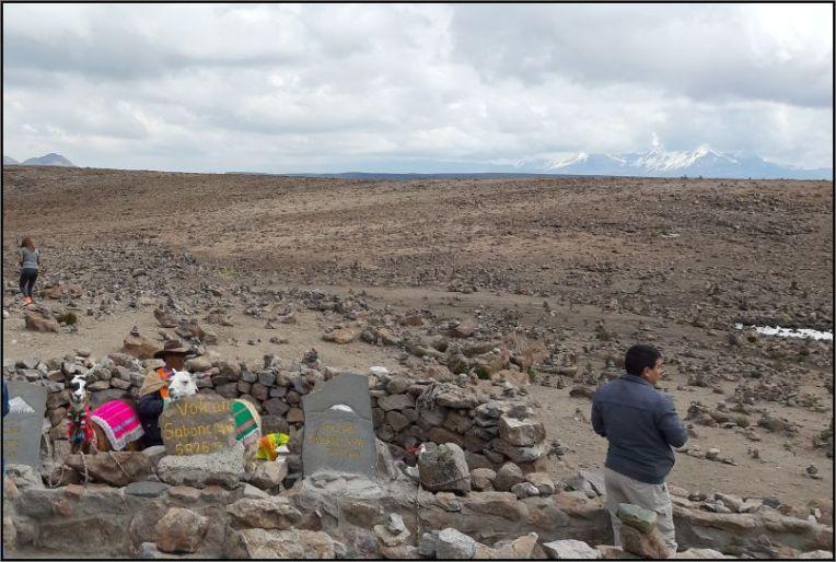 Mirador de los Andes Tramo de la Cordillera Volcanica - Volcanic complex Ampato - Sabancaya - Hualca Hualca
