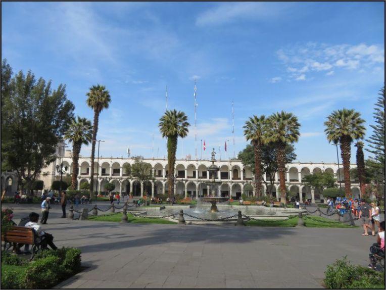 Arequipa, Plaza de Armas colonial style