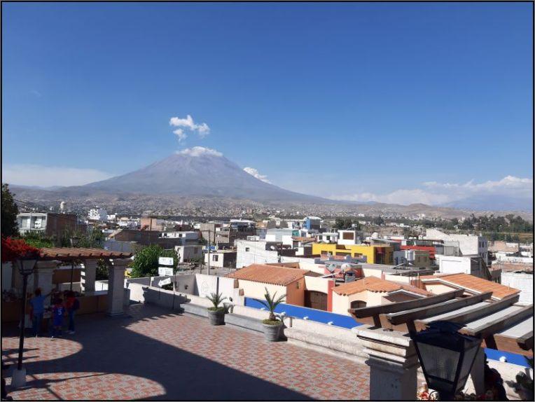 Arequipa, Volcano Misti seen from Plaza Yanahuara