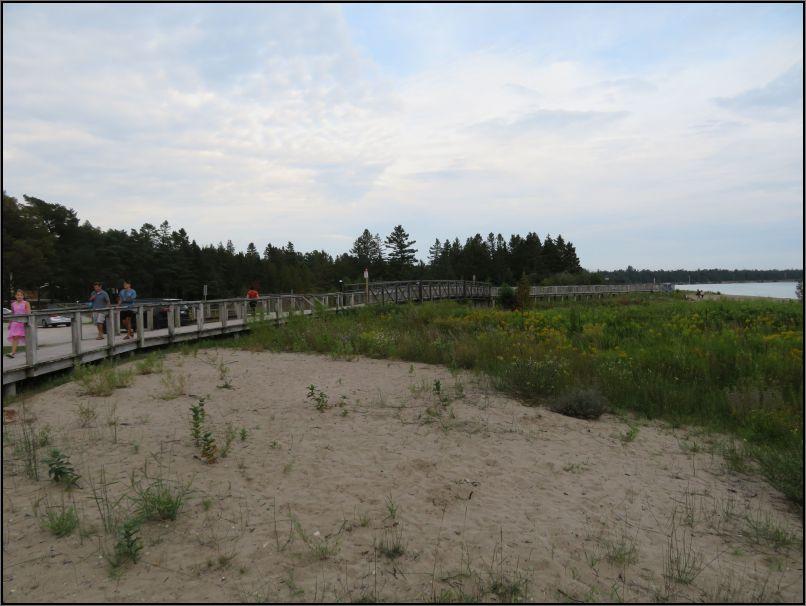 Providence Bay boardwalk - sand dunes