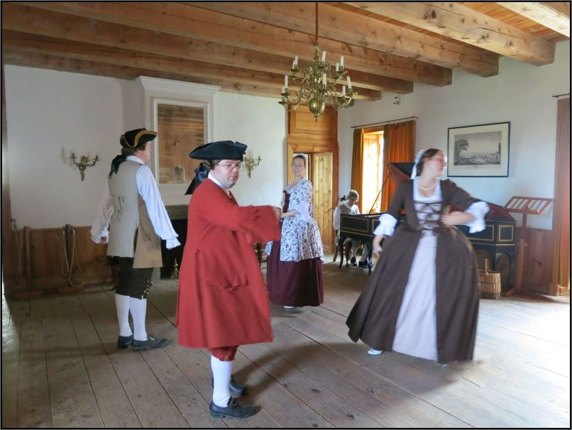 Louisbourg Fortress - high class giving a performance