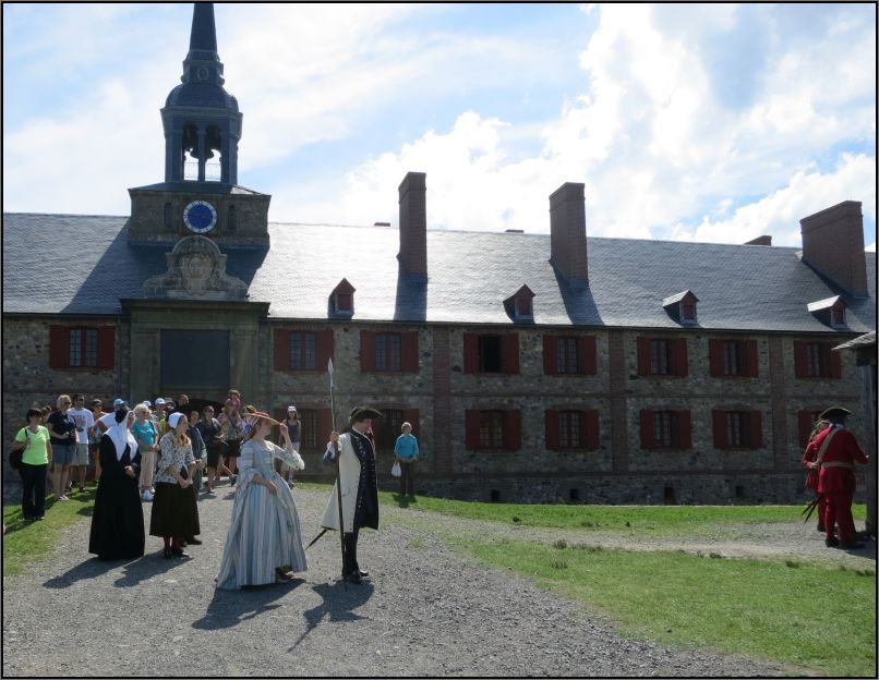 Louisbourg Fortress - living the life from 1744 in front of the Kings bastion barracks