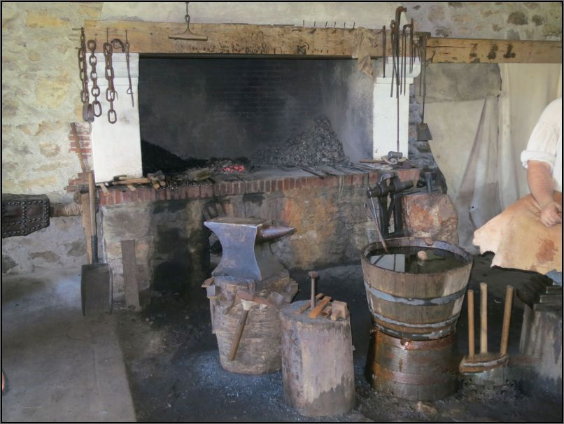 Louisbourg fortress - Artillery's forge