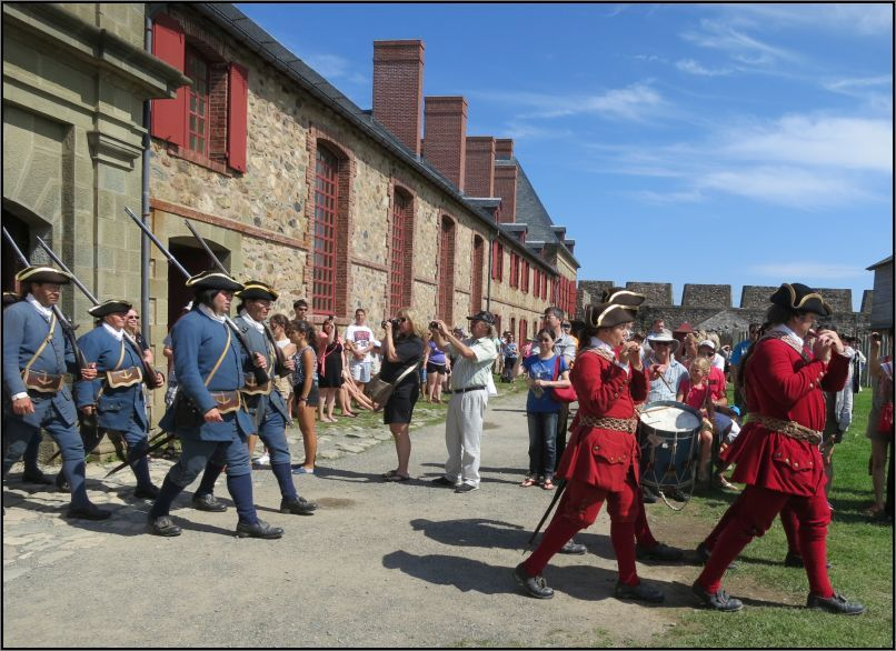 Louisbourg fortress ready for a parade in the Place Royale
