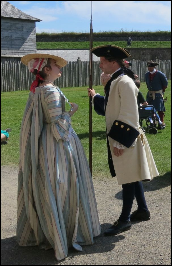 Louisbourg fortress - the lord and the lady of the fortress
