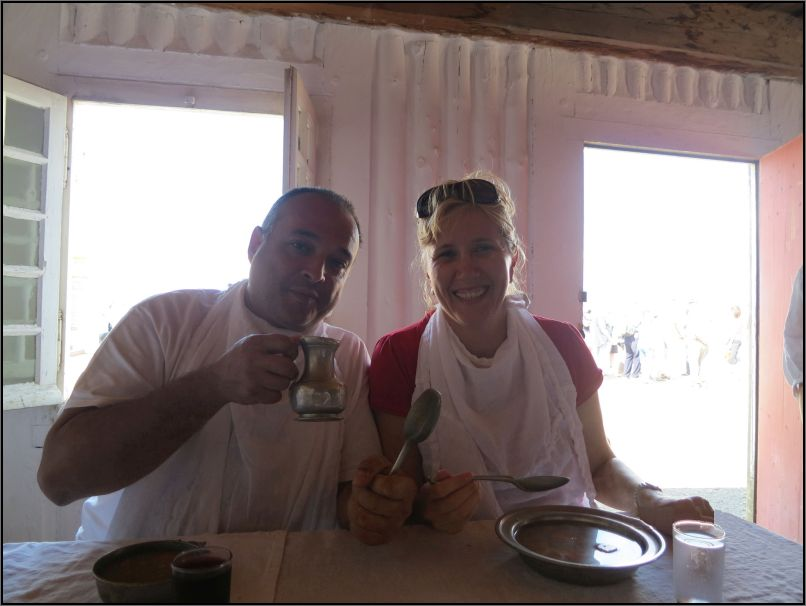 Louisbourg fortress - trying a Turnip soup, a 18th century recipe